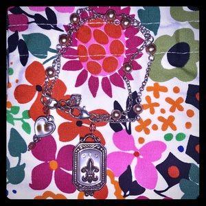 BRIGHTON Silver Plated Charm Holder Bracelet